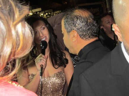 Emmy Award Juror Wissam Chahine talking to Raquel from HBO NY IMG_2247
